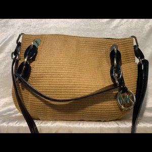 Michael Kors woven satchel/shoulder bag